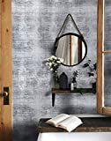 "16.4ftx17.7"" Wallpaper Gray Industrial Contact Paper Gray Cement Look Wallpaper Peel and Stick Textured Wall Paper Vintage Slate Gray Concrete Contact Paper Wallpaper Removable Grey Self Adhesive Roll"