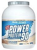 Body Attack Power Protein 90, 5K Eiweißpulver mit Whey-Protein, L-Carnitin und BCAA für Muskelaufbau und Fitness, Made in Germany (Cookies n Cream, 2 kg)