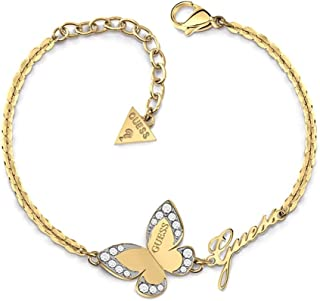 249b5e6293 Bracelet Guess Love Butterfly surgical stainless steel plated gold logo  UBB78050-S [AC1120]