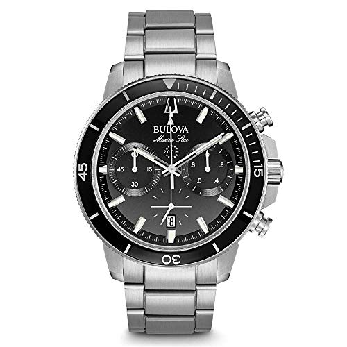 Bulova Herren Chronograph Quarz Uhr mit Edelstahl Armband 96B272