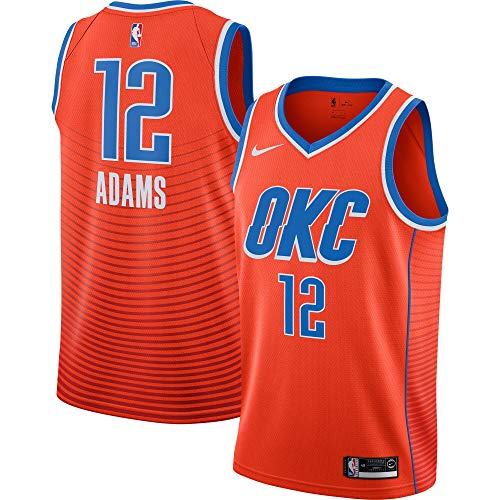 Steven Adams Oklahoma City Thunder #12 Youth 8-20 Orange Earned Edition Swingman Jersey (18-20)