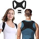 Toyaword Haltungstrainer, Geradehalter zur Haltungskorrektur Rücken Schulter Schultergurt, Damen Herren Einstellbar Rückentrainer Rückenstütze gegen Nacken Schulterschmerzen (mit 2 Schulterpolster) -