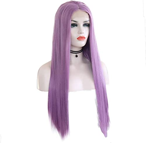 Haarverl erungen, Lila Spitze Vorderseite Perücke Zum Damen Natürlich Gerade Lange Synthetik Hitze Best ig Perücken Cosplay Party Halloween Kostüm