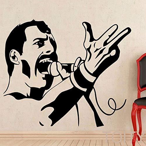 Tianpengyuanshuai rok muziekfiguur vinyl muursticker rok paren celebrity afbeelding muursticker slaapkamer decoratie behang