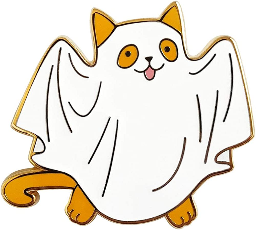 Pinsanity Cute Ghost Cat Spring new work one after another pin Year-end annual account Enamel Lapel