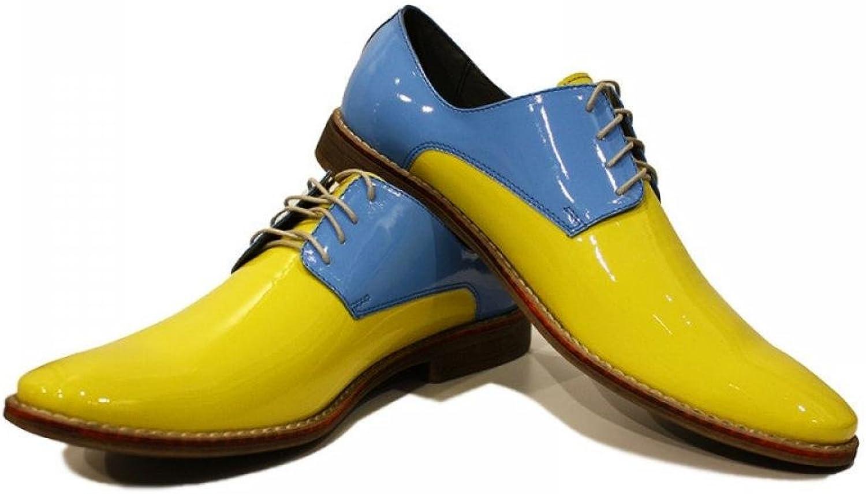 Modello Virgilio - Handgemachtes Italienisch Bunte Herrenschuhe Lederschuhe Herren Gelb Oxfords Abendschuhe Schnürhalbschuhe - Rindsleder Lackleder - Schnüren B074TL9D54  | Charmantes Design