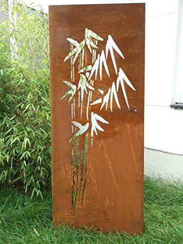 Zen Man Edelrost Tuin privacy muur roest privacy muur gemaakt van metaal 1mm roest tuinhek tuindecoratie 031664-1 B50 * H125cm