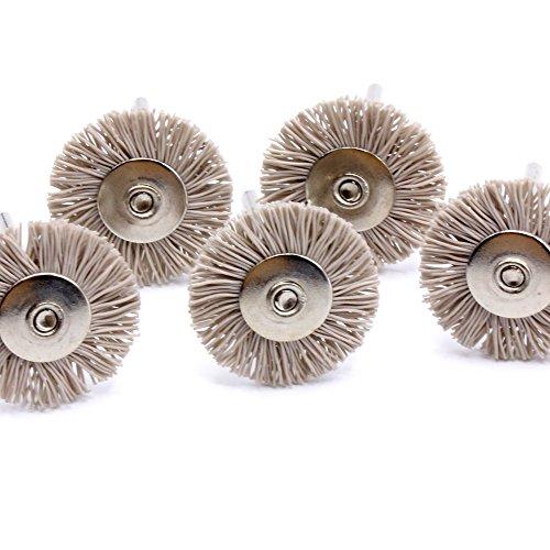 5x Nylonbürste [ EXTRA HART ] Reinigungsbürsten 25mm für Dremel Proxxon Multifunktionswerkzeug