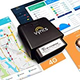 VyncsFleet: GPS Trackers No Monthly Fee, 4G OBD, Real Time Fleet Car/Truck Tracking, Free 1 Year Data Plan, Trips, Vehicle Diagnostics, Driver Safety Alerts, Fuel Report, Emission Report (Black)