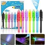 [14Pièces] Stylo invisible, Nasharia Stylo à Encre Invisible UV Light Surligneur Creative Magic Pen pour Fêtes d'enfants Cadeaux