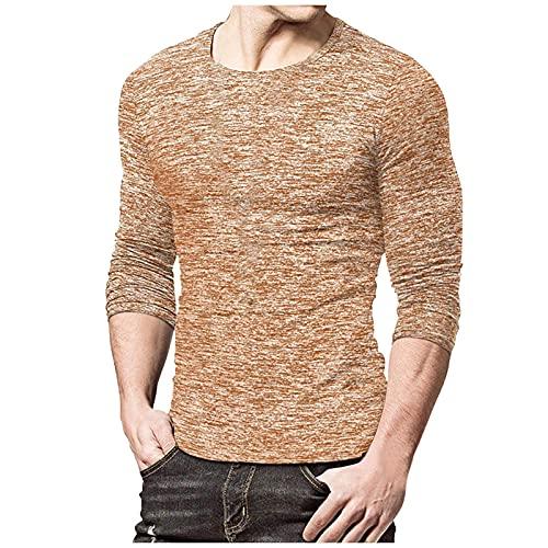 Binggong Camiseta de manga larga para hombre de corte ajustado, de secado rápido, camiseta larga muscular, fina, transpirable, para el tiempo libre, informal, fitness, de manga larga, deportiva
