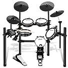 Donner 電子ドラム セット メッシュ 自宅練習 静音性 折りたたみ式 MIDI機能 225種類音色 30デモ曲 ドラムスティック付 日本語説明書 DED-200 (5ドラム4シンバル)
