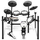 Donner 電子ドラム セット メッシュ 自宅練習 折りたたみ式 MIDI機能 225種類音色 30デモ曲 オーディオケーブル&ドラムスティック&電源アダプター付 日本語説明書 DED-200 (5ドラム4シンバル)