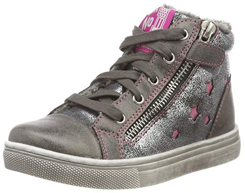 Indigo Mädchen 452 065 Hohe Sneaker, Grau (Dk. Grey 254), 32 EU