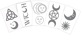 Witchy Celestial Silver temporary tattoos   Skin Safe   MADE IN THE USA  Removable
