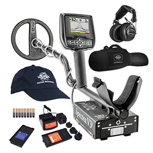White's Spectra V3i HP Metal Detector with Padded Gun Style Carry Bag and...