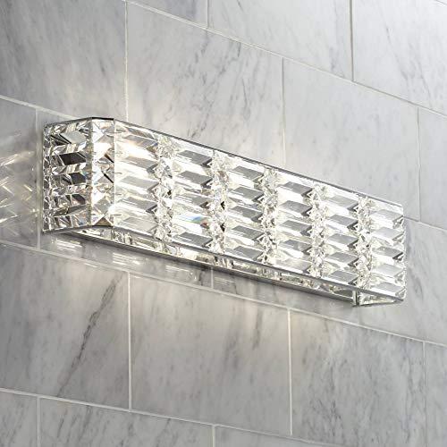 Vivienne Modern Wall Light Chrome Hardwired 24 1/2' Wide Light...
