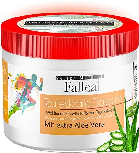 Salben Meister Fallea Teufelskralle Balsam | Fördert die Durchblutung mit Aloe-Vera, Lavendelöl, Rosmarinöl | Teufelskralle Creme | Teufelskralle Salbe Mensch | Teufelskralle für Mensch 200 ml