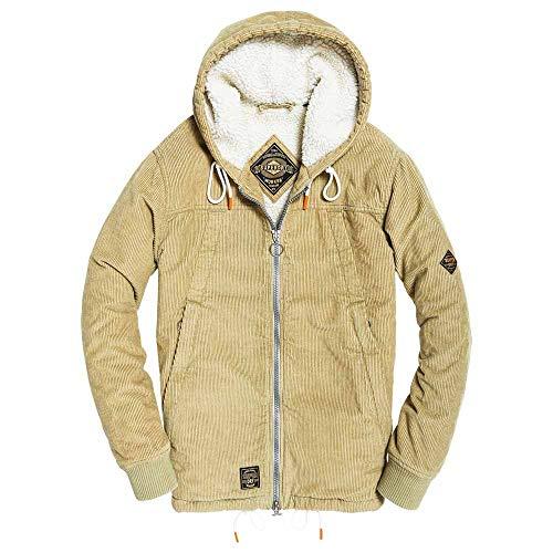 Superdry Hooded Worker Jacket Jacken Hommes Kaki - S - Jacken/Blazers