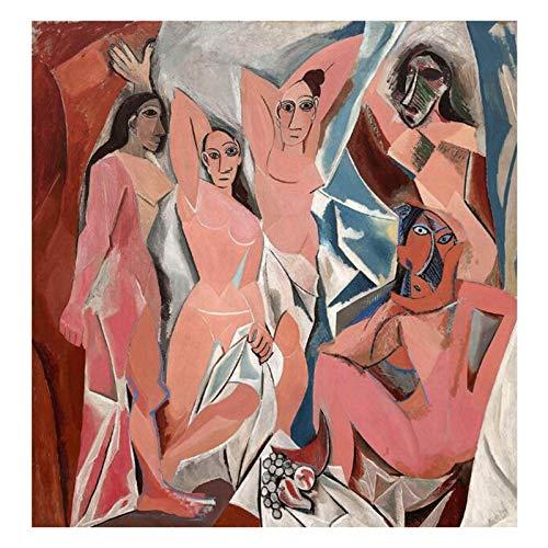 BJWQTY Pintura de Lienzo de Pablo Picasso, reproduccin de imgenes de Arte de Pared, decoracin de Lienzo Famosa, ao50X70cmPintura sin Marco