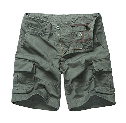 Backbone Mens Army Tactical Military Cargo Shorts Work Fishing Camping Camo Shorts (Army Green, 38)