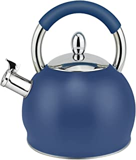 HausRoland Tea Kettle 3.2 Quart Whistling Stainless Steel Stove Top Teapot 18/10 Food-Grade Stainless Steel (GS-04391A-A-7...