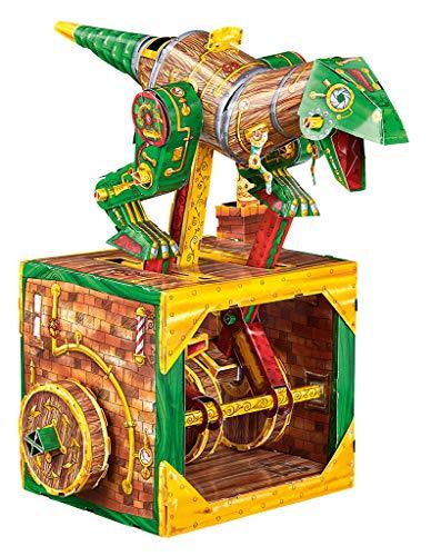 Moses 90218 De geweldige dino-machine, bouwpakket met 21 gestanste zijden, om te knutselen zonder lijm, kleurrijk