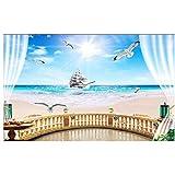 Balkon meer segeln wandbild-Benutzerdefinierte 3d wallpaper foto tapeten raumdekor malerei wandbilder tapete für wände 280 cm (B) x 230 cm (H)