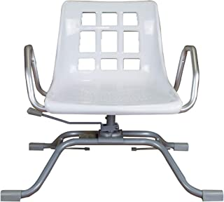 Queraltó Silla Giratoria 360º para Bañera, Comodidad Gracias a su Respaldo y Reposabrazos, Aluminio, 70.5 x 41 x 42 cm