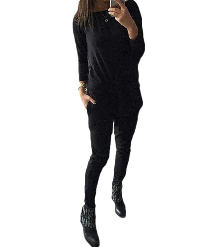 包括的回路包括的Tootess Women's One-shoulder Drawstring Pocketed Solid Color Sports Suit Tracksuit