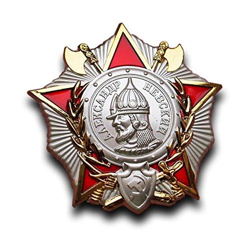 Trikoty Bestellung von Alexander-Newski-2. Weltkrieg sowjetischen russische UDSSR Medaille Abzeichen für Mut UND Ehre Replica