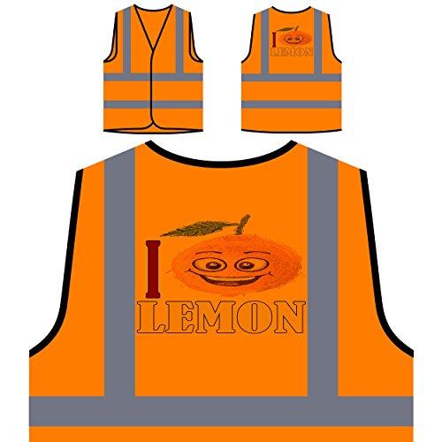 Amo la legumbre de fruta fresca de limón Chaqueta de seguridad naranja personalizado de alta visibilidad a357vo