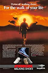 Great condition professionally cut and handpicked form vintage magazine print ad National geographic 1987 kangaroos dynacoil walking shoes. For the walk of your life. 1987