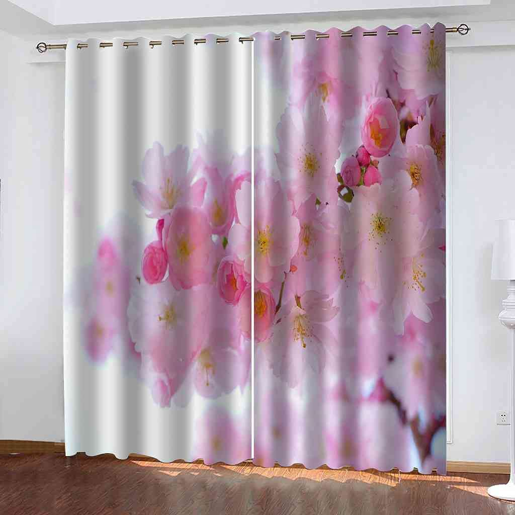 Free shipping anywhere in the nation Finally popular brand RIFTWP Window Drapes for Bedroom 3D Printed Living Room Blackout