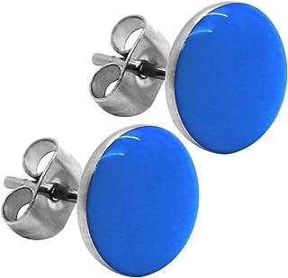 tumundo Orecchino Orecchini Orecchio Finto Plug Piercing Perno Fake-Plugs Pulsante 10mm Bambini Acciaio inossidabile