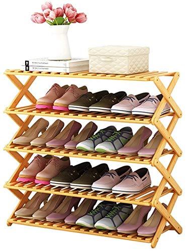 Zusammenklappbarer Woody-Schuhschrank mit mehreren Schichten/einfacher Haushaltseingang Kreativer Schuhkarton/zusammengebauter Stauraum Staubdichte Regale Schuhkarton (Farbe: C, Größe: 80 cm)