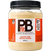 PBfit All-Natural Peanut Butter Powder, Powdered Peanut Spread from Real Roasted Pressed Peanuts, 8g of Protein (850 Grams)