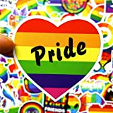 Dotiow 100pcs LGBT Rainbow Gay Pride Stickers Gaymer Support LGBTQ Decals for Hydro Flasks Tumblr water bottle Laptop Suitcase Car Window Bumper Bike Helmet Hard Hat Guitar Decals Phone Case Xmas Gift
