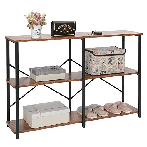 IWELL Industrial 3-Tier Console Table Sofa Table with...