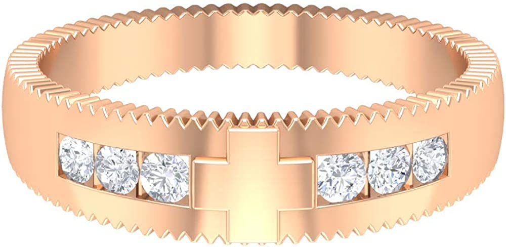 Rosec Jewels- Engraved Wedding Band with A Diamond Same day shipping 55% OFF CT 1 HI-SI 4