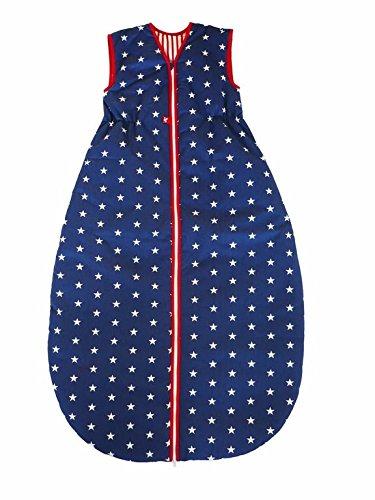 Linden 308423 Winterschlafsack mit Klett Sterne, 130/110 cm