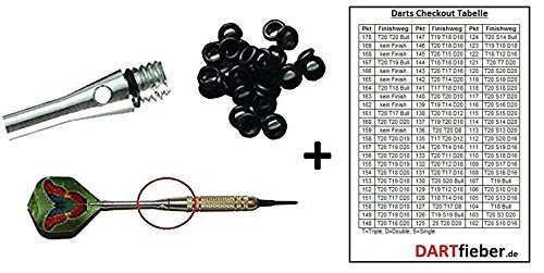 50 x Dart Gummiringe für optimalen Halt der Schäfte für Alu Shaft Dartpfeile Soft Steel
