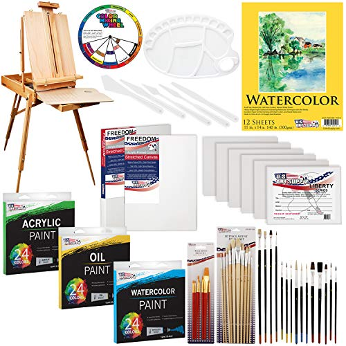 Top easel and canvas paint set for 2021