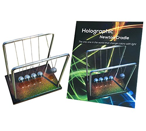 FAXADELLA Holocradle Newton Cradle Holographic | Newton Balls with Holographic Base