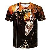 Htty Character Anime_Bleach 3D printet Shirt Men & Kid Pullover tee (G,4XL)