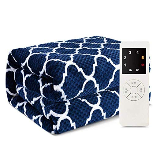 WGIRL Electric Blankets, Blanket Electric Mattress Electric Blanket House Control Dormitory Double Mattress Waterproof Double-Control Safety,Blue,180×90cm