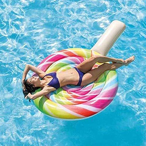Gcxzb Schwimmreifen Airbetten Wasser spielt Umweltfreundliche PVC-aufblasbare Reihe Lutscher-Floating-Reihe Liebes-Schwimmbad Float