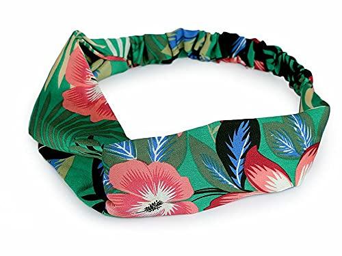 1pc Vert Émeraude de Satin Pin-up Bandeau, Tropical, Stretch Headwrap Écharpe, Accessoires Pour Cheveux, Bijoux