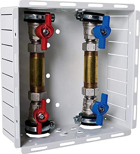 Watermeter aansluitstation UP watermeter watermeter koud + warm inbouwkast
