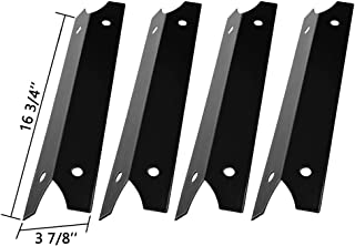 SHINESTAR Grill Heat Plates for Charmglow 810-7440-S, 810-7310-S, 810-7400-S, 810-7600-S Replacement Parts, Brinkmann 810-4580-S, 16 3/4 inch Porcelain Steel Heat Shield Tent Flame Tamers (SS-HP004)